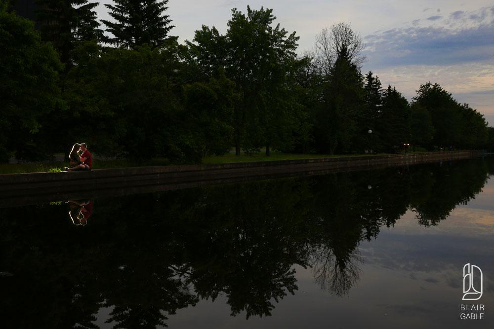Ottawa locks engagement portraits