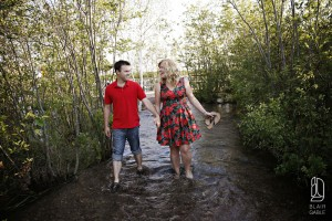 white fish island engagement portraits