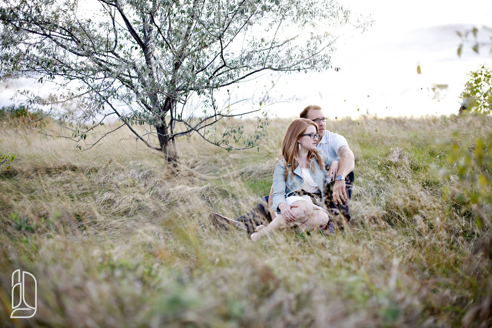 Sunset engagement session with Kaitlin Grant and Keith in Ottawa