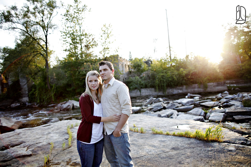 Engagement session with Katelyn and Ben at the Appleton Locks near Carleton Place