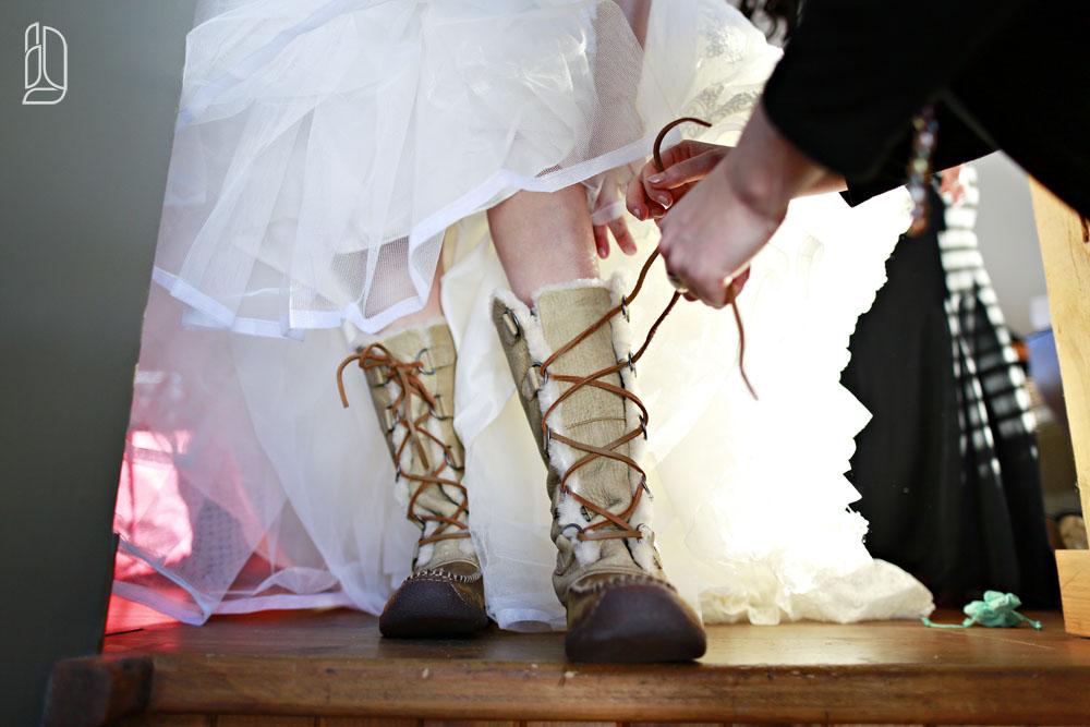 Wedding of Megan and Matt at Le Nordik