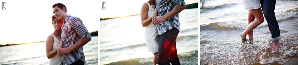 Michelinne + Darren's Ottawa beach engagement portraits