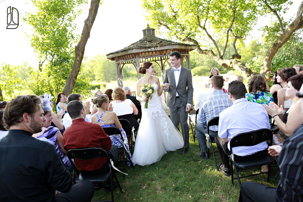 Wedding of Natalie and Kris at the Herb Garden in Almonte near Ottawa