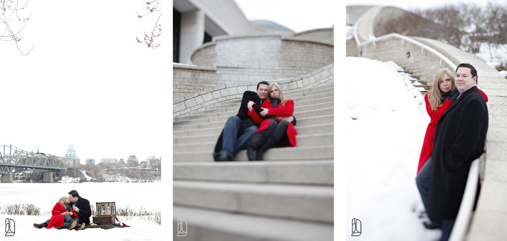 Museum of Civilization engagement session with Renate and Matthew