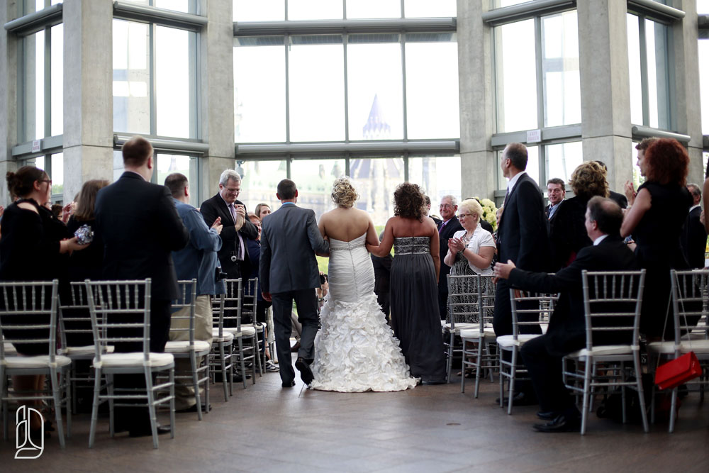 Wedding of Vanessa and Sylvain at the National Gallery of Canada in Ottawa